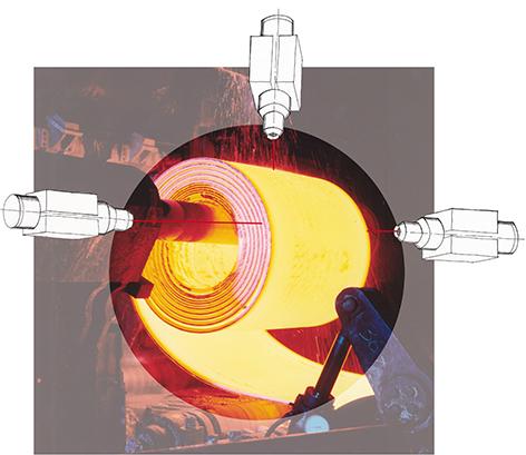 Phasenvergleichsmessung zum Erfassen eines Cool Durchmessers